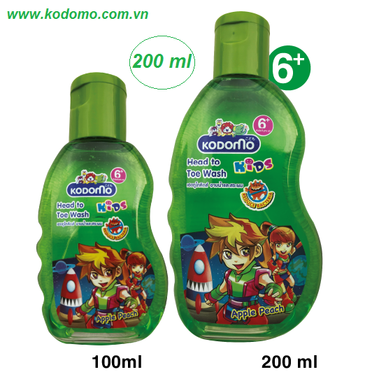 dau-tam-goi-kodomo-apple-peach-200ml