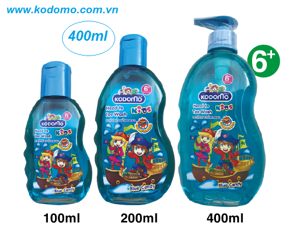 dau-tam-goi-kodomo-blue-candy-400ml