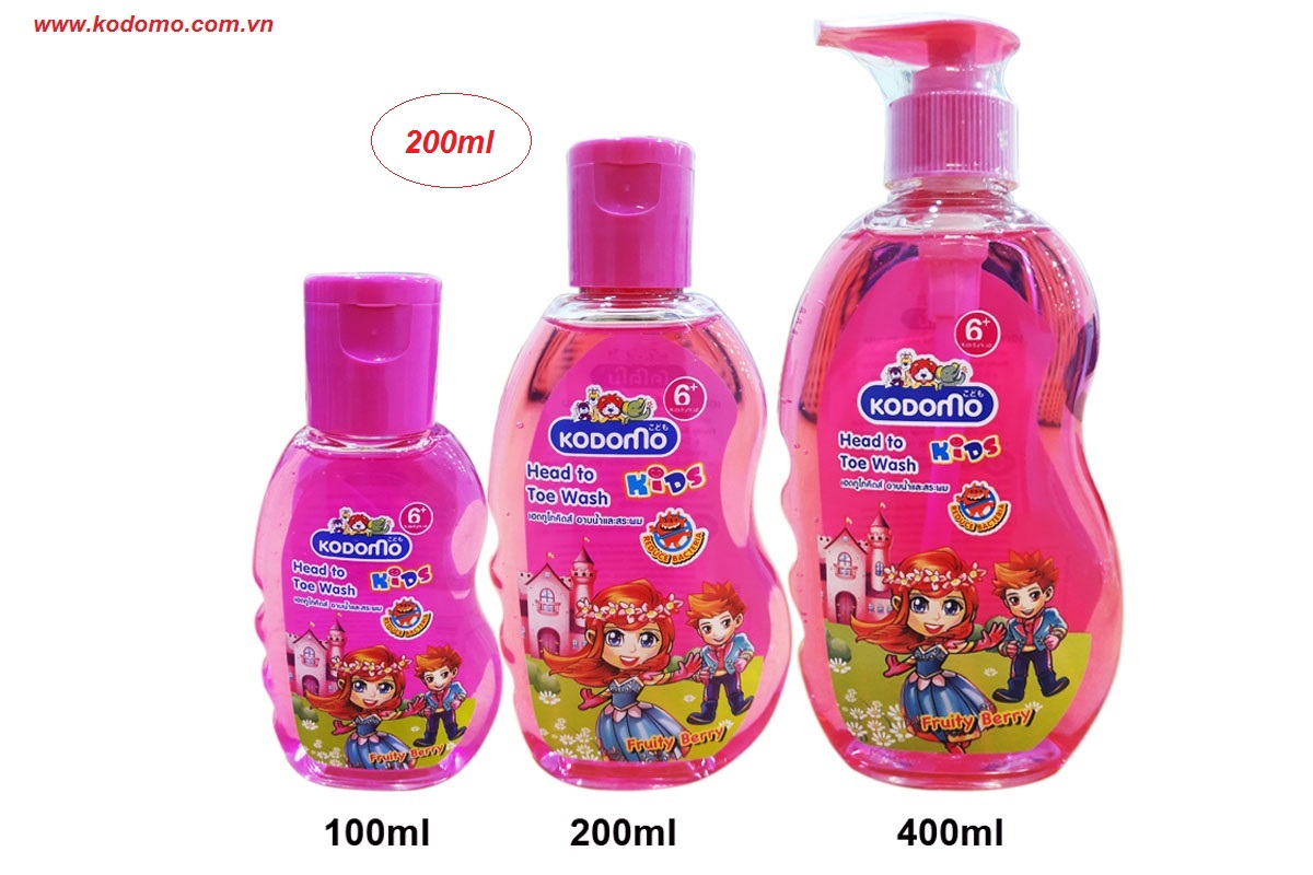 dau-tam-goi-kodomo-fruit-berry-200ml