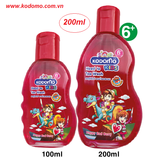dau-tam-goi-kodomo-happy-red-berry-200ml