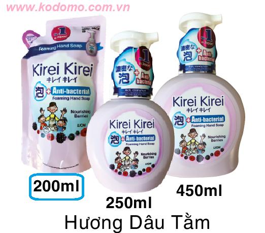 bot-rua-tay-kirei-kirei-huong-dau-tam-200ml