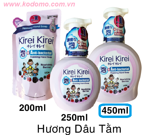 bot-rua-tay-kirei-kirei-huong-dau-tam-450ml
