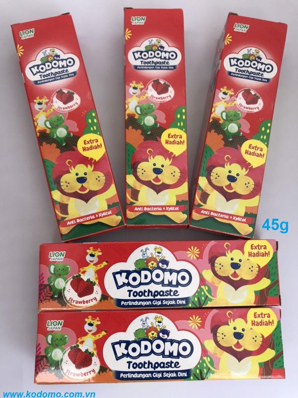 kem-danh-rang-kodomo-huong-dau-45g